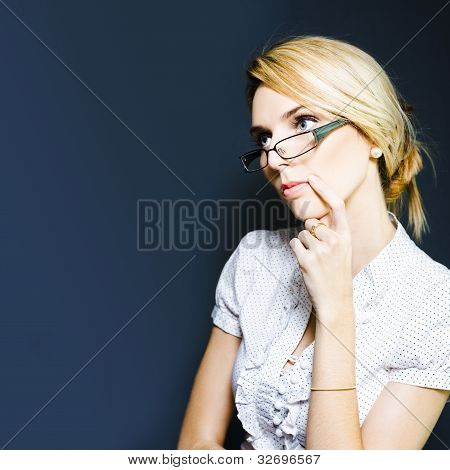 Business Person Brainstorming Ideas