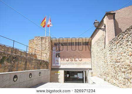 Segovia Spain - May 29, 2019: Museum Of Segovia Old Building Segovia Spain