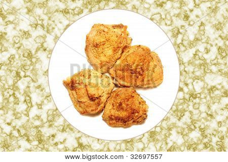 Four Portions Of Roast Chicken