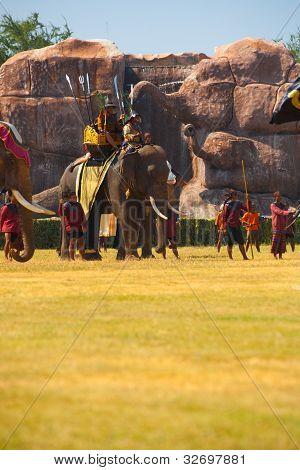 Burmese Prince Waiting Battle Elephant