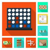 Isolated object of entertainment and competition logo. Set of entertainment and rivalry vector icon for stock. poster