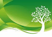 Green Tree background Vector illustration layered file. poster