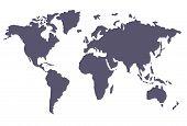 blue vector of international map global business poster