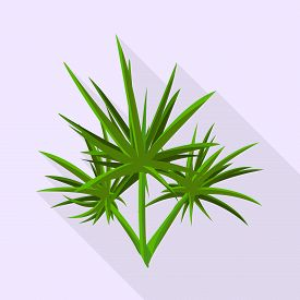 Vector Illustration Of Leaves And Shrubbery Icon. Set Of Leaves And Green Vector Icon For Stock.