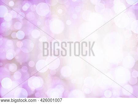 Pink White Lilac Background With Bokeh Effect, Blur And Gradient. Colorful Blurred Texture. Modern D