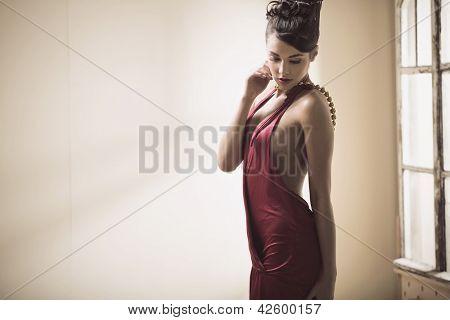 Attractive lady posing