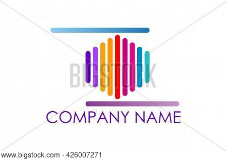 Sound Wave Logo With Flat Design Vector Logo Design Concept Related To Sound Company Logo Audio Or S