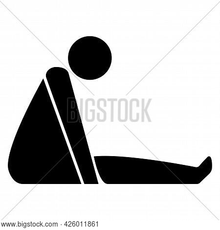 Confined Space Symbol Sign Isolate On White Background,vector Illustration Eps.10