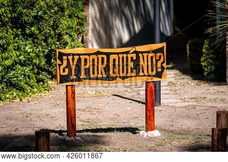 Why Not Question In Spanish Crafted On Vintage Wooden Letterpress