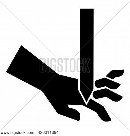 Cutting Of Fingers Straight Blade Symbol Sign Isolate On White Background,vector Illustration