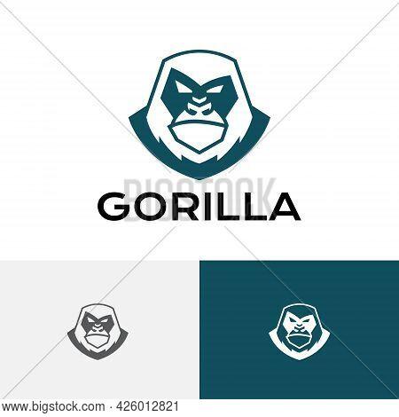 Big Strong Gorilla Silverback Monkey Ape Animal Logo