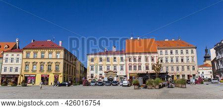 Znojmo, Czech Republic - September 18, 2020: Panorama Of The Central Market Square Of Znojmo, Czech