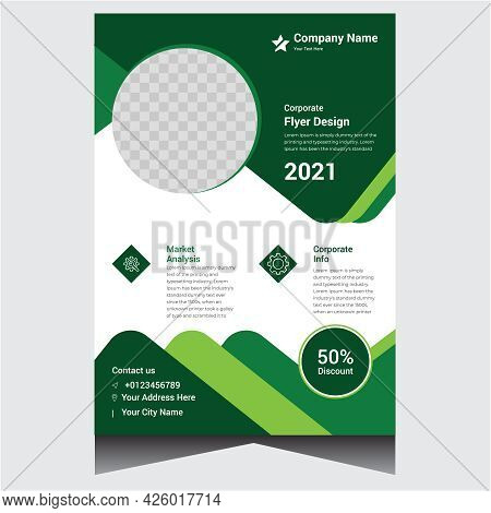 Green And White Creative Corporate Company Business Flyer Design Template