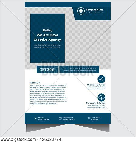 Professional Concise Company Business Flyer Design Template
