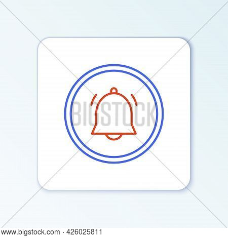Line Circle Button And Chat Notification Icon Isolated On White Background. New Message, Dialog, Cha