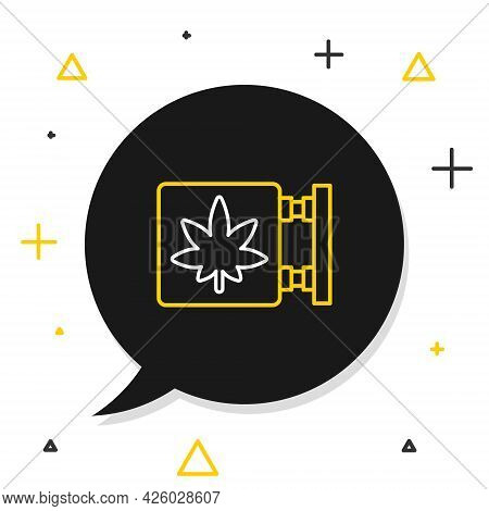 Line Marijuana And Cannabis Store Icon Isolated On White Background. Equipment And Accessories For S