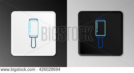 Line Adhesive Roller For Cleaning Clothes Icon Isolated On Grey Background. Getting Rid Of Debris, D