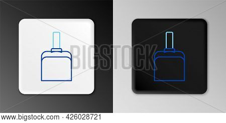 Line Dustpan Icon Isolated On Grey Background. Cleaning Scoop Services. Colorful Outline Concept. Ve