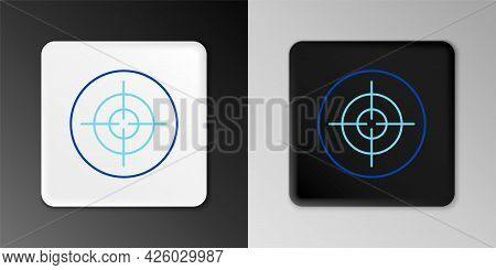 Line Target Sport Icon Isolated On Grey Background. Clean Target With Numbers For Shooting Range Or