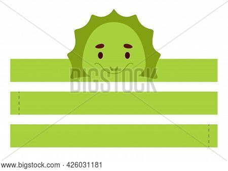 Printable Iguana Paper Crown. Diy Cut Party Ribbon Template For Birthday, Christmas, Baby Shower. Fu