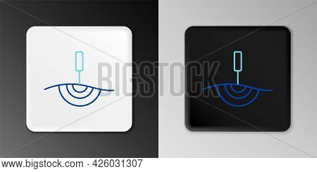 Line Acupuncture Therapy Icon Isolated On Grey Background. Chinese Medicine. Holistic Pain Managemen