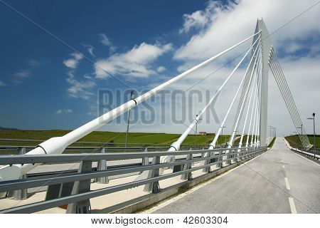 Bridge Of The Scientific & Tecnological Park Of Santander, Cantabria, Spain