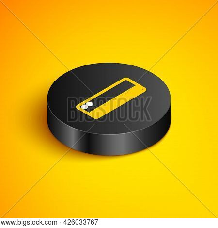 Isometric Line Air Conditioner Icon Isolated On Yellow Background. Split System Air Conditioning. Co
