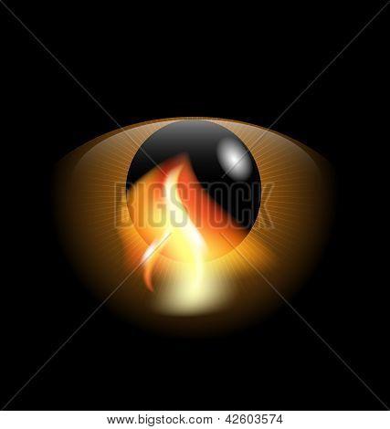eye and flame