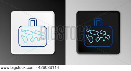 Line Suitcase For Travel Icon Isolated On Grey Background. Traveling Baggage Sign. Travel Luggage Ic