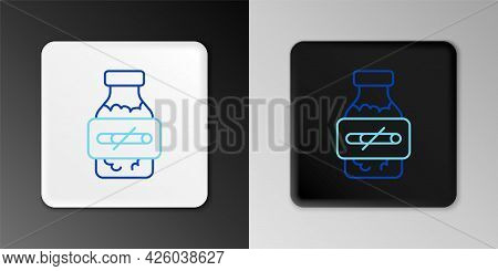 Line Nicotine Gum In Blister Pack Icon Isolated On Grey Background. Helps Calm Cravings And Reduces