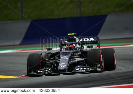 Spielberg, Austria. 2 July 2021.  Pierre Gasly Of Alpha Tauri   On Track During Free Practice Of   F