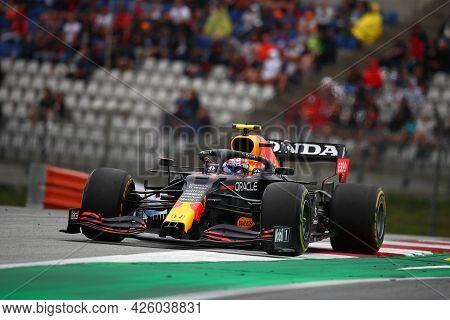Spielberg, Austria. 2 July 2021.  Sergio Perez Of Red Bull Racing   On Track During Free Practice Of