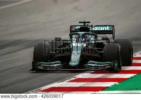 Spielberg, Austria. 2 July 2021.  Lance Stroll Of Aston Martin   On Track During Free Practice Of