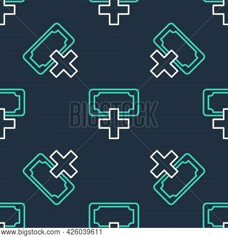 Line Donation And Charity Icon Isolated Seamless Pattern On Black Background. Donate Money And Chari