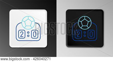 Line Sport Mechanical Scoreboard And Result Display Icon Isolated On Grey Background. Colorful Outli
