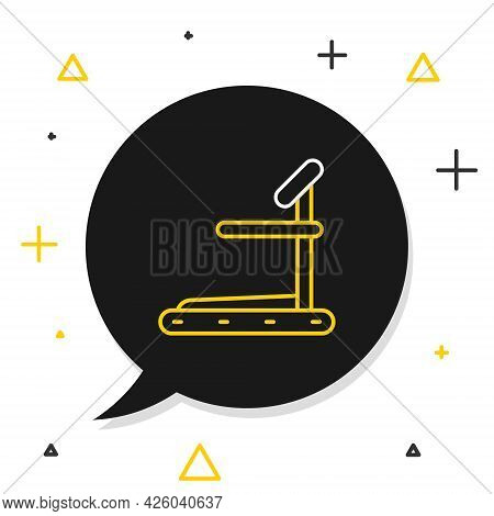 Line Treadmill Machine Icon Isolated On White Background. Colorful Outline Concept. Vector