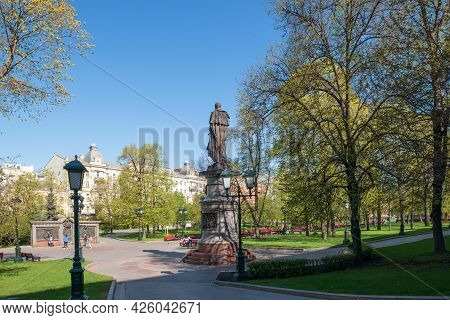 Moscow, Russia - May 10, 2021: Monument To Emperor Alexander I. Opened On 20 November 2014 In The Al