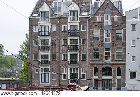 Amsterdam, Netherlands. June 06, 2021. Beautiful View Of Amsterdam