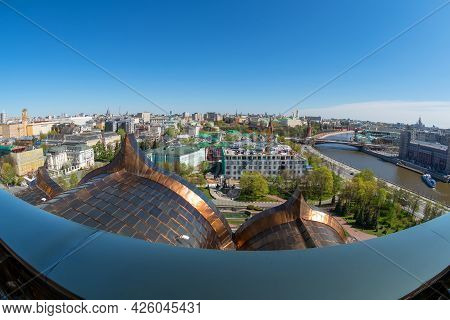 View From The Observation Deck Of The Cathedral Of Christ The Savior On A Sunny Spring Day