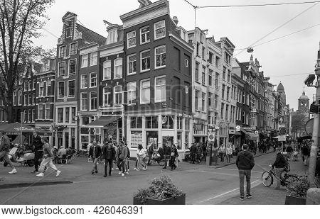 Amsterdam, Netherlands. June 06, 2021. Steakhouse, Modebazar Facades.
