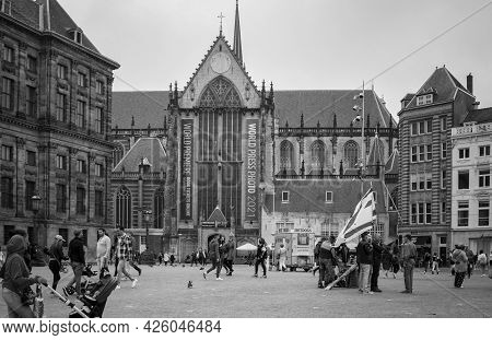 Amsterdam, Netherlands. June 06, 2021. Dam Square.