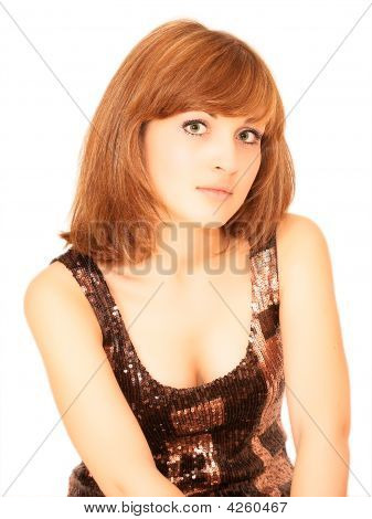 Portrait Of Young Beatiful Woman