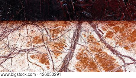 Detail Of Brown Marble Material Texture Pattern Background