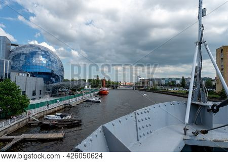 Kaliningrad, Former Konigsberg, Russia On June 5, 2021. The Museum Of The World Ocean. Panorama Of T
