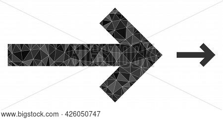 Triangle Direction Arrow Polygonal Icon Illustration. Direction Arrow Lowpoly Icon Is Filled With Tr