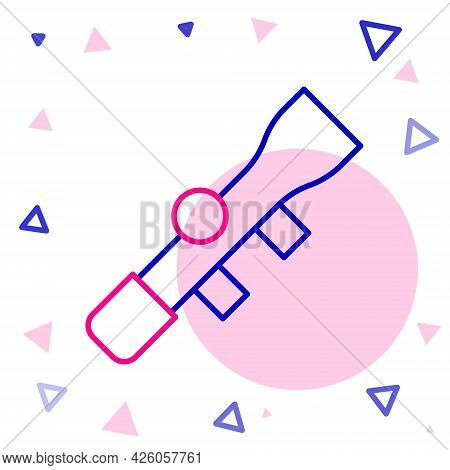 Line Sniper Optical Sight Icon Isolated On White Background. Sniper Scope Crosshairs. Colorful Outli