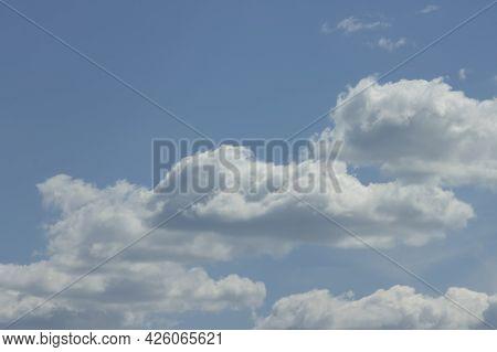 Beautiful Volumetric Cloudy Landscape, Natural Serene Natural Background