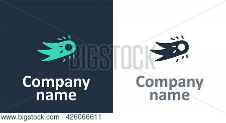 Logotype Fireball Icon Isolated On White Background. Logo Design Template Element. Vector