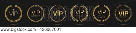 Vip Member Golden Laurel Wreath Label Set