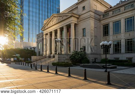 Nashville, Tennessee - 28 June 2021: Schermerhorn Symphony Center In Downtown Nashville